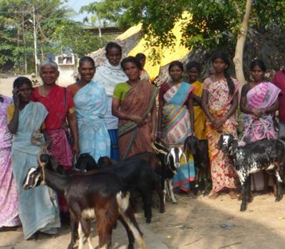 Livraison au village de Ramasamuthram